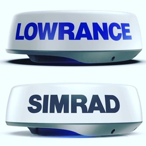 New Simrad and Lowrance Halo 24 Radar Domes with Doppler Technology