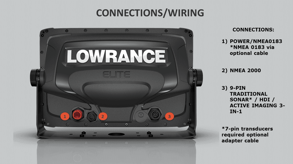 7 pin wiring diagram for a lowrance transducer wiring Lowrance Elite-5 Accessories